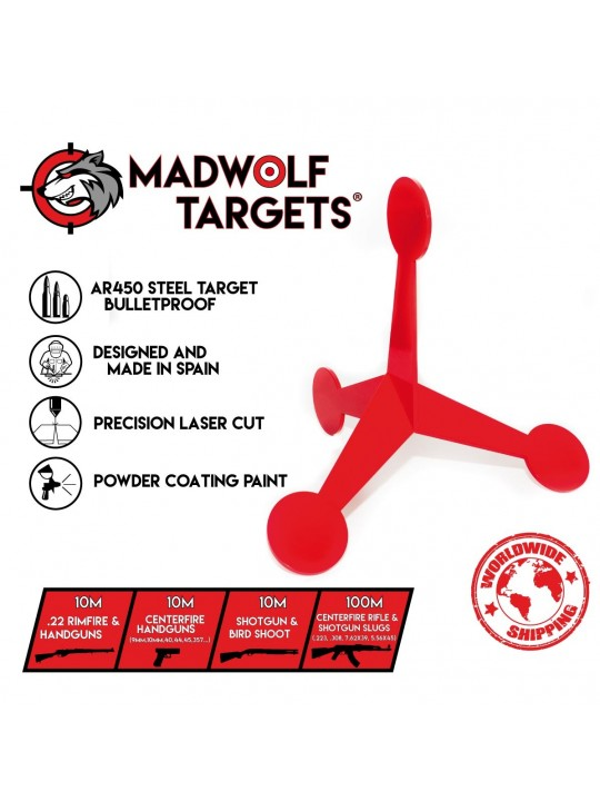 jumping target steel - reactive target - flip target