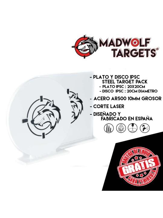 blanco de tiro metalico ipsc disco y plato - alvo metalico