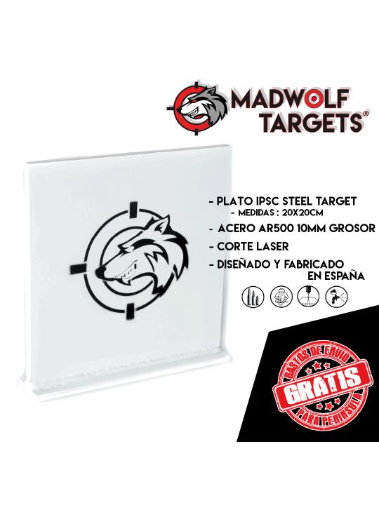 blanco tiro metal ipsc recorrido steel target