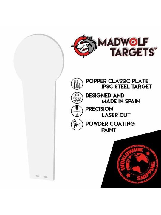 steel target silhouette IPSC popper classic - silhouette de tir - cible métallique