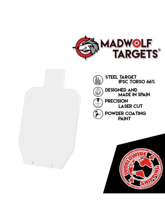 bersagli in acciaio Stahlziel steel target silueta de tiro metalica cible métal IPSC 66%