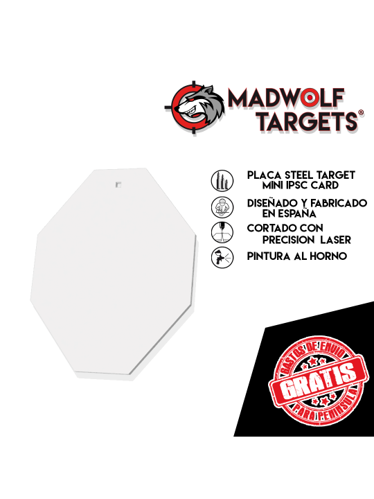 cible metallique Steel Target Blanco de tiro metalico Mini ipsc card karte