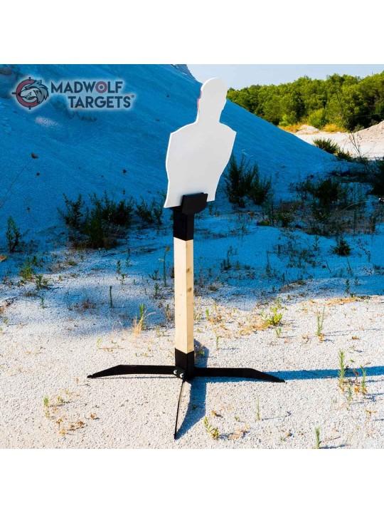 blanco de tiro silueta diana metalico de metal torso humano iberian targets madwolf