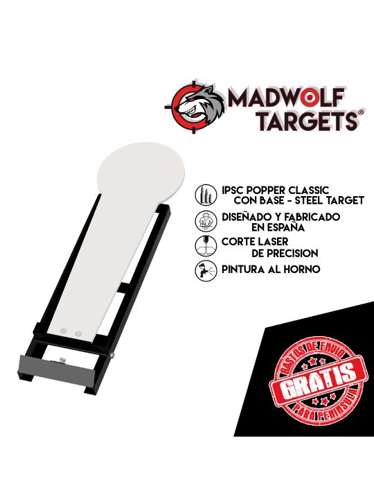 Mini popper Classic IPSC Steel Target- Stahlziel