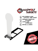 Steel Target - Popper Classic IPSC- (con base)