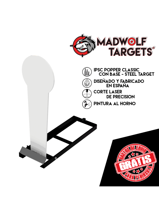 Classic Popper IPSC con base Steel Target