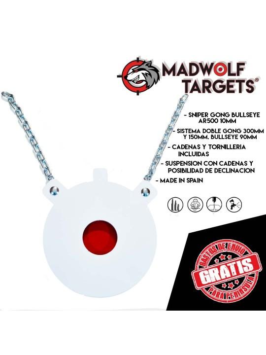Blanco de tiro metalico sniper target francotirador gong madwolf iberian