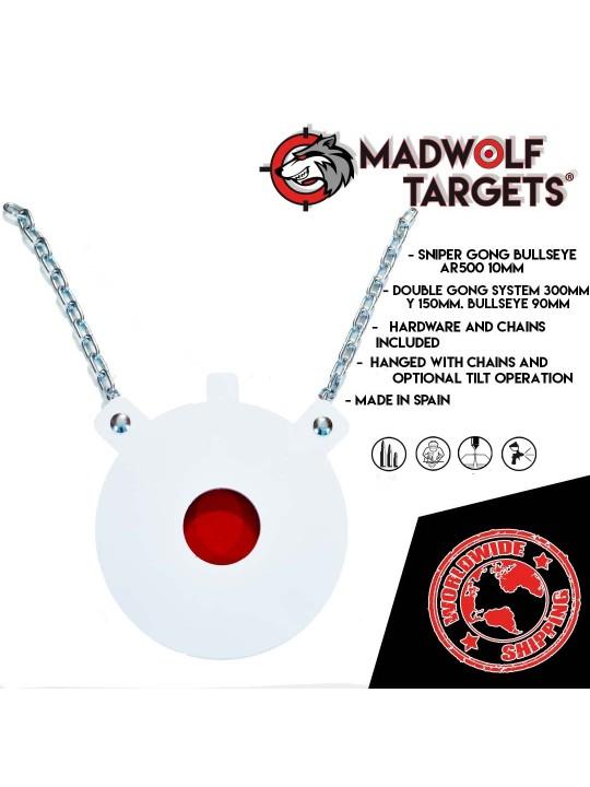 silueta de tiro gong AR500 Sniper francotirador iberian targets madwolf