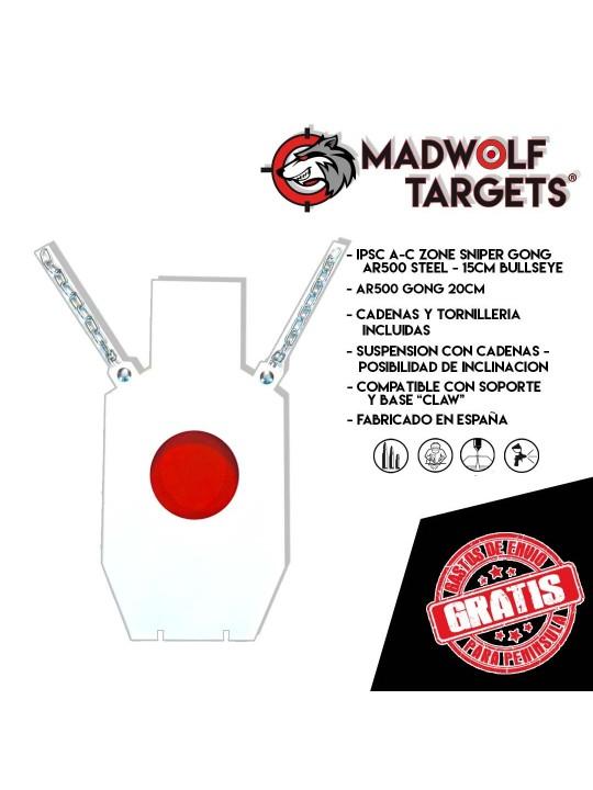 Blanco de tiro IPSC torso AR500 metalico sniper target francotirador gong madwolf iberian
