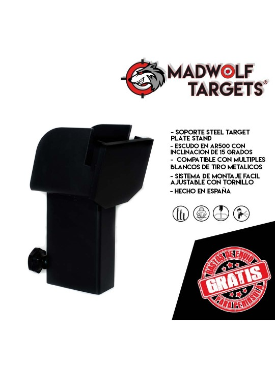 cible metallique Steel Target Blanco de tiro metalico base plate stand