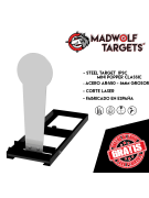 Steel Target - Mini Popper Classic IPSC- (with base)