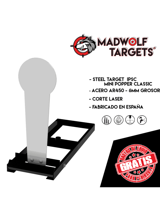 Mini Popper Classic IPSC con base Steel Target