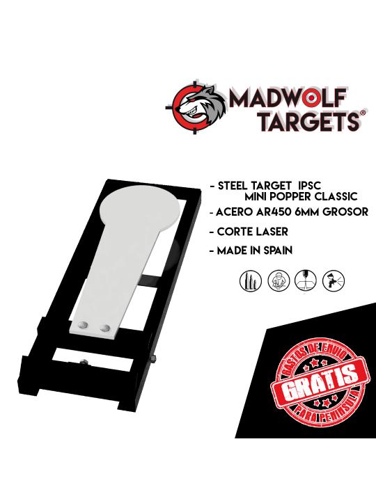 Mini popper Classic IPSC Steel Target- Stahlziel - Stahlziele