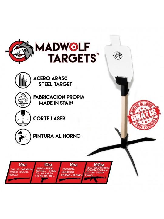 metallic steel target ar500 ar450 ipsc torso 66%