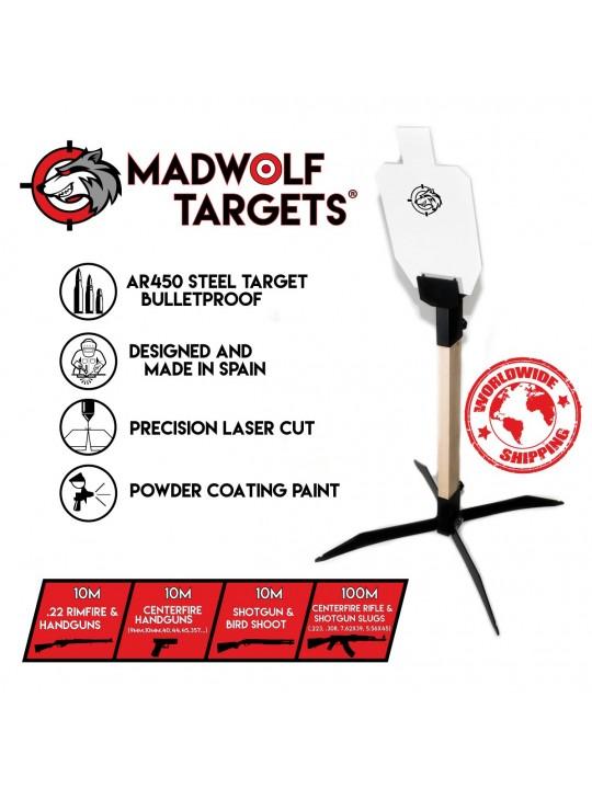 metal steel target for shooting - steel target -  ar500 ar450 ipsc torso 66%