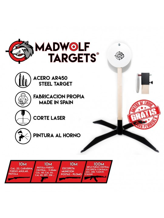 Steel target spain europe - Gong for shooting -  blanco de tiro metalico