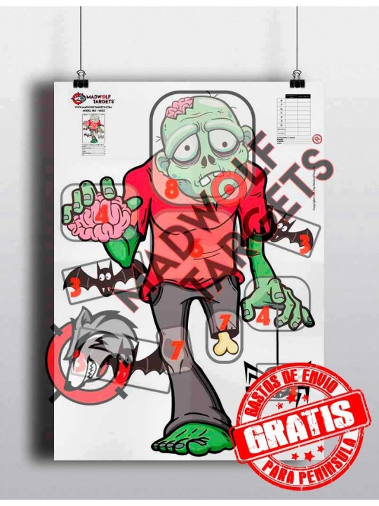 zombie target - paper - funny shooting target