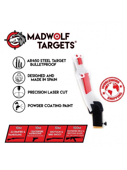 blanco de tiro metalico españa steel target - reactivo double tap
