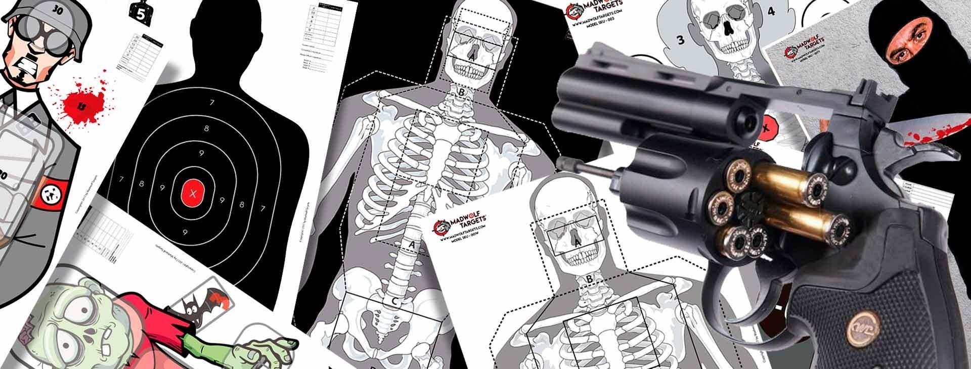 Blancos de tiro en papel - Policiales - Madwolf Targets