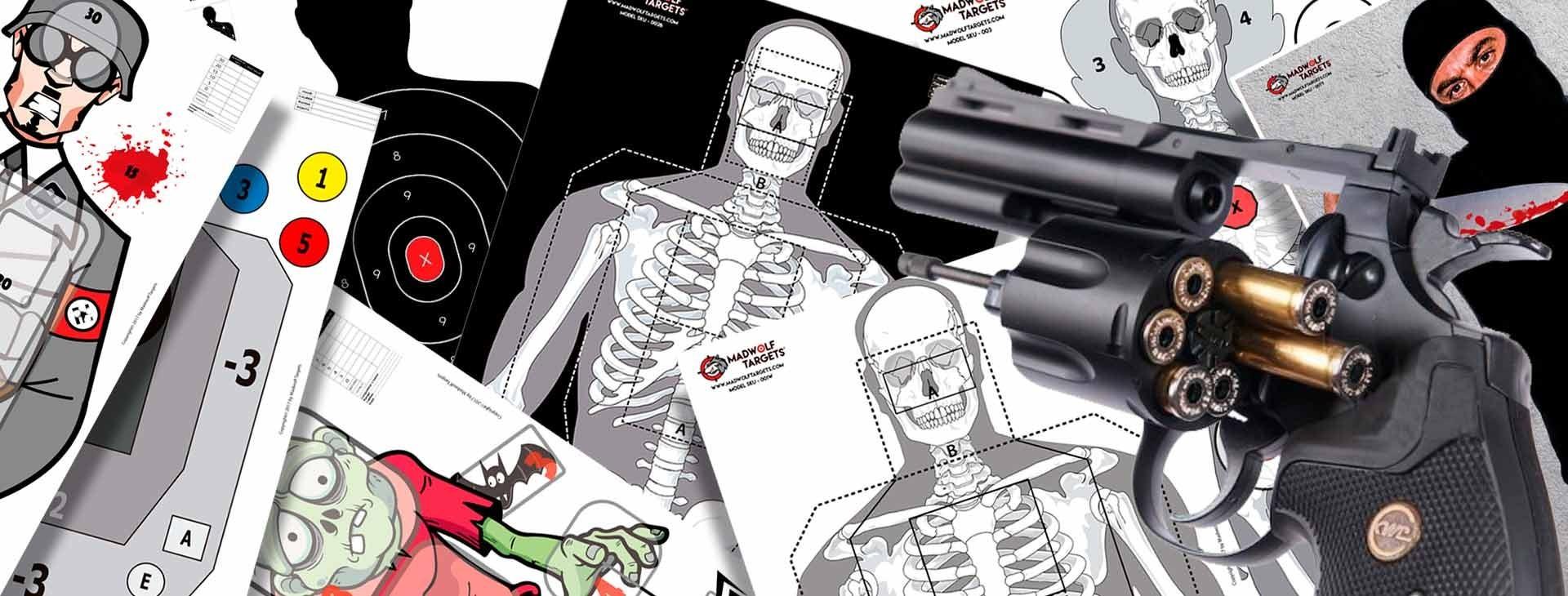 Blancos de tiro - Papel - Realistas - Madwolf Targets